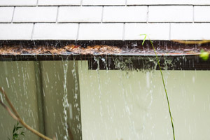 Clogged gutters. Forcewashing in Vancouver WA provides gutter sticks and gutter stick installation services to keep your gutters clean.